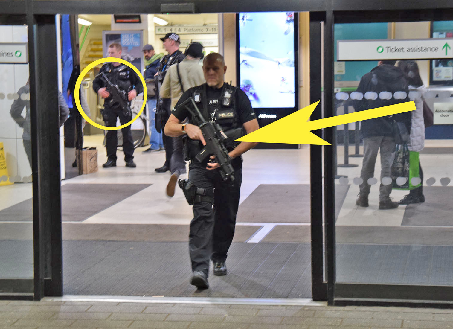 Armed Police swoop Watford Train Station for Suspect