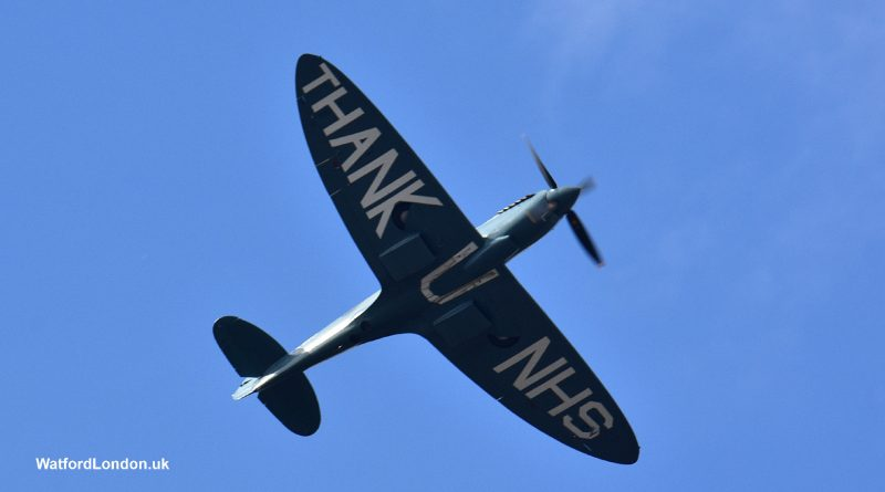 NHS Spitfire flyover August