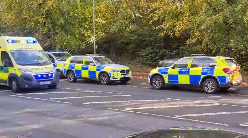 Armed Police and Helicopter by A41 Watford when Arrow Shot at House