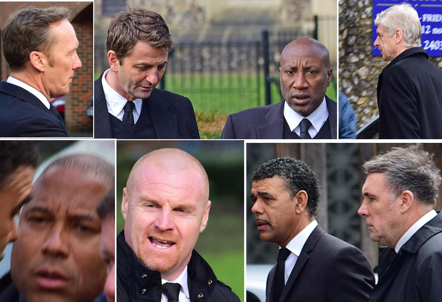 Football stars attended funeral of Watford football legend Graham Taylor