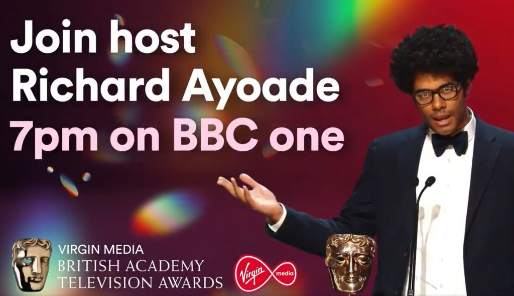 Master of ceremonies Richard Ayoade will be joined in the studio by some guest presenters, while others will announce award winners online.